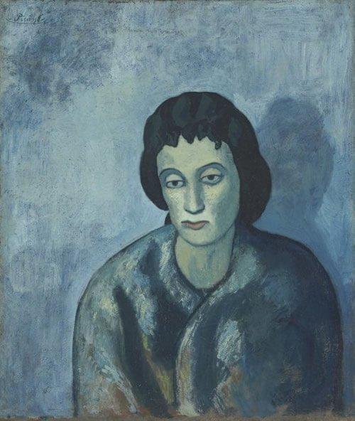Periodo azul de Picasso, Mujer con flequillo, 1902.