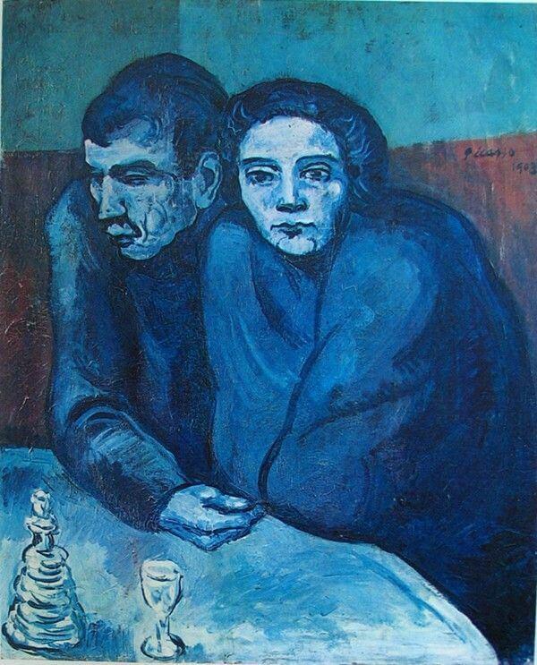 Picasso, Hombre y mujer en un café, 1903.