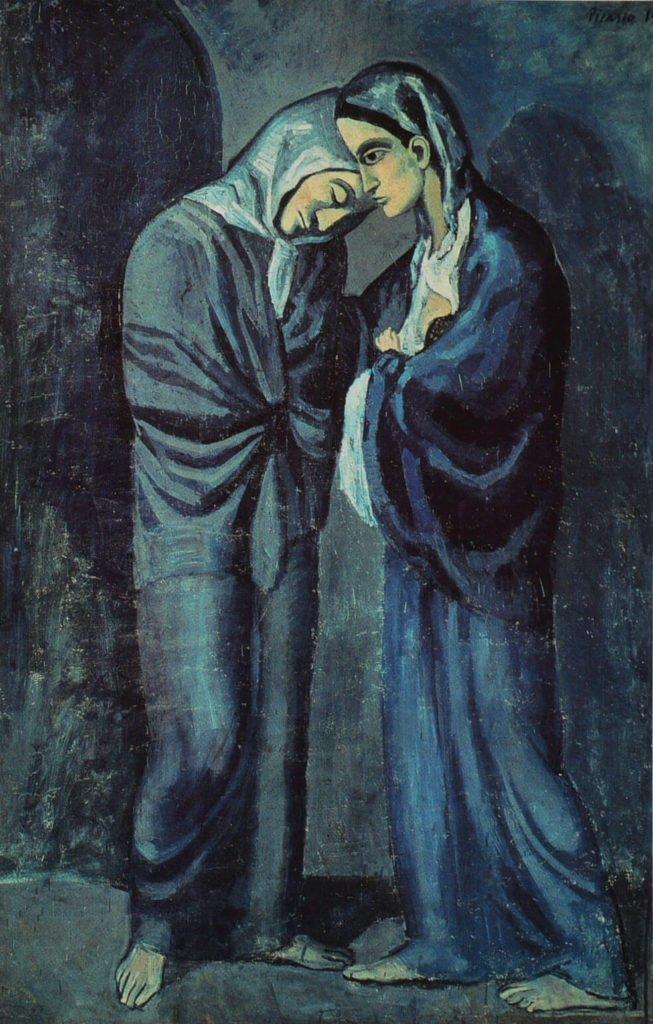 Picasso, Las dos hermanas, 1902. Museo del Hermitage, San Petersburgo.