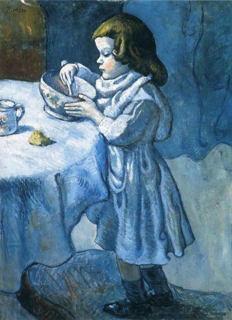 Periodo azul de Picasso, El goloso (Le gourmet), 1902.