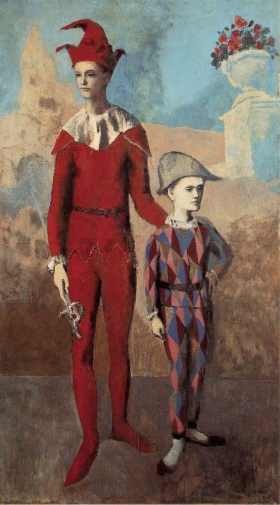 Época Rosa Picasso, Acróbata y joven arlequín, 1905.