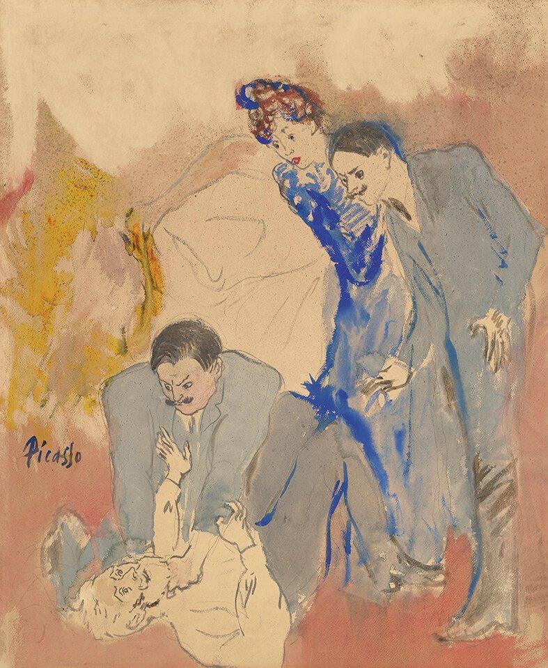 Periodo Rosa de Picasso, L´étrangleur, 1904.