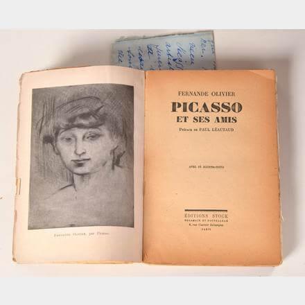 """Época Rosa Picasso, imagen del libro de Fernande Olivier """"Picasso et se samis"""", publicado en 1933."""