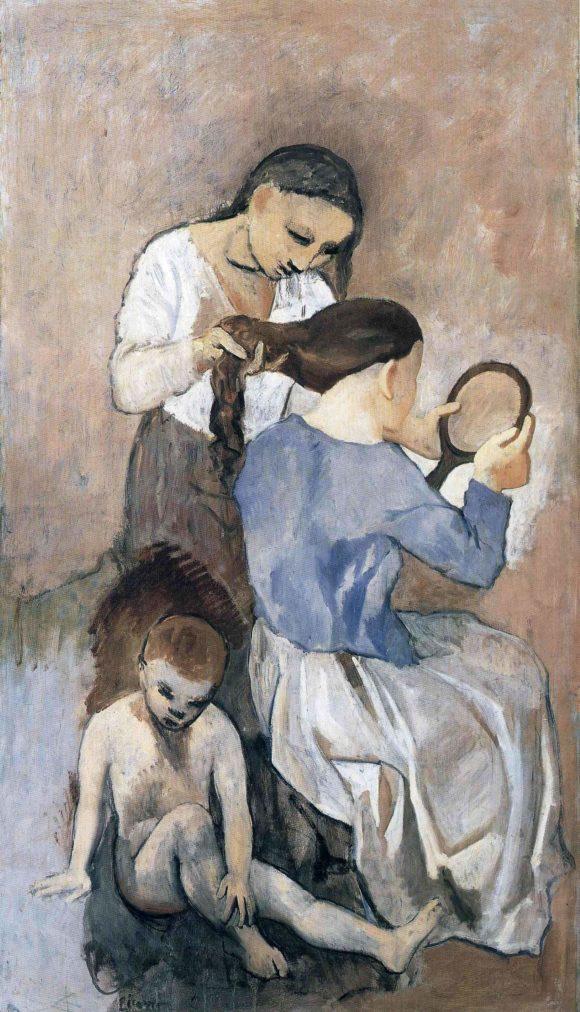 Época Rosa Picasso, El peinado, 1906.
