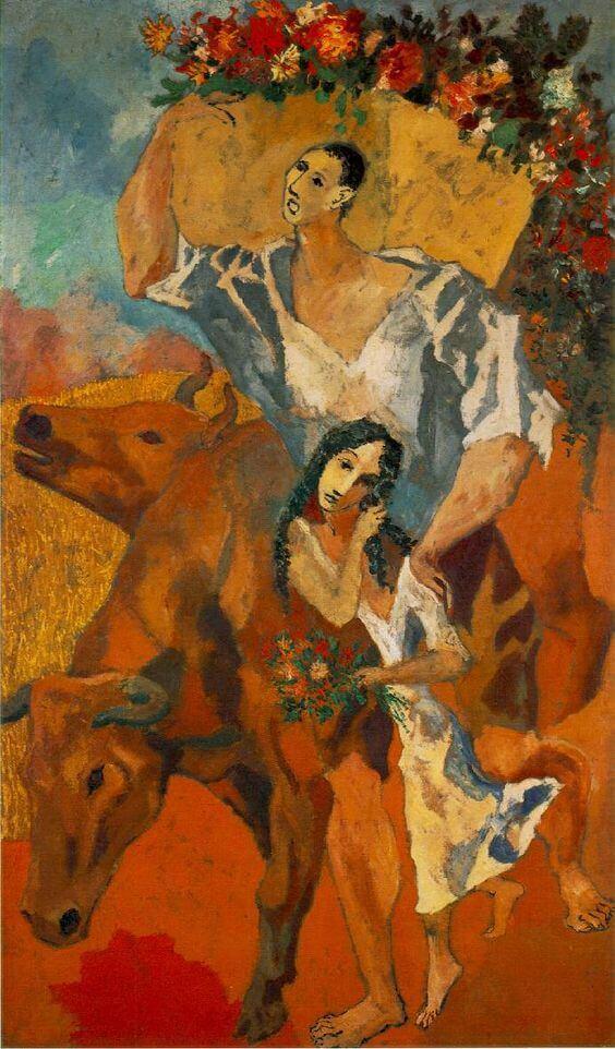Época Rosa Picasso, Los campesinos, 1906.