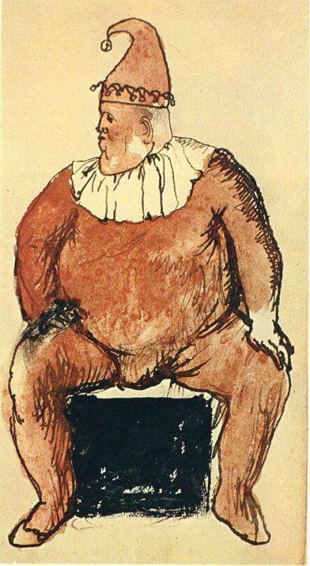 Época Rosa Picasso, Bufón, 1905