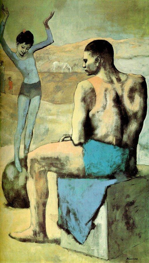 Picasso, La acróbata de la bola, 1905.
