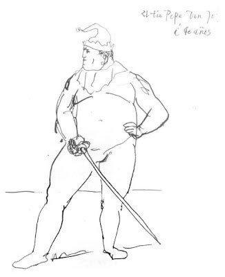 Época Rosa Picasso, Bufón Obeso. «El tío Pepe», 1905.