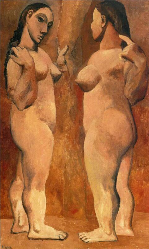 Picasso, Dos desnudos, 1906.