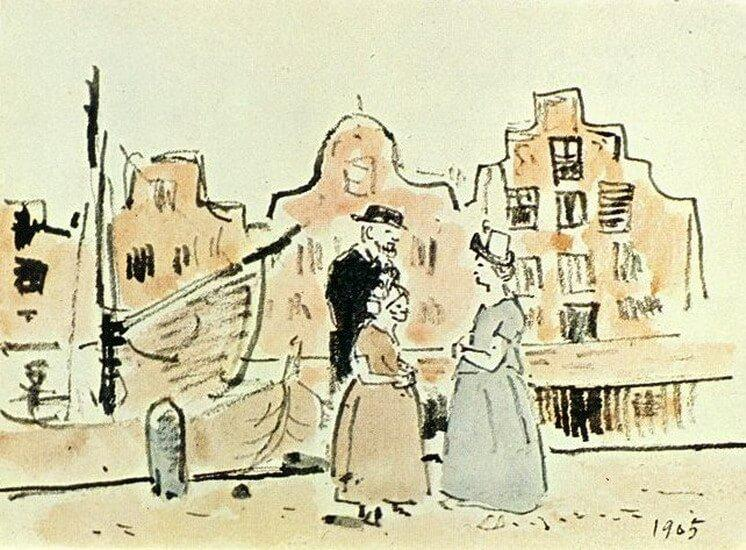 Picasso, En la orillas del canal (Holanda), 1905.