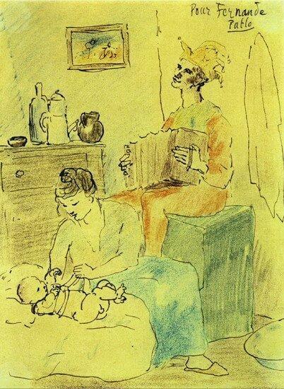 Picasso, Familia de payasos, 1905.