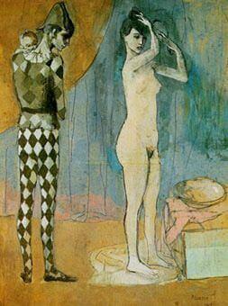 Época Rosa Picasso, Familia del arlequín, 1905.