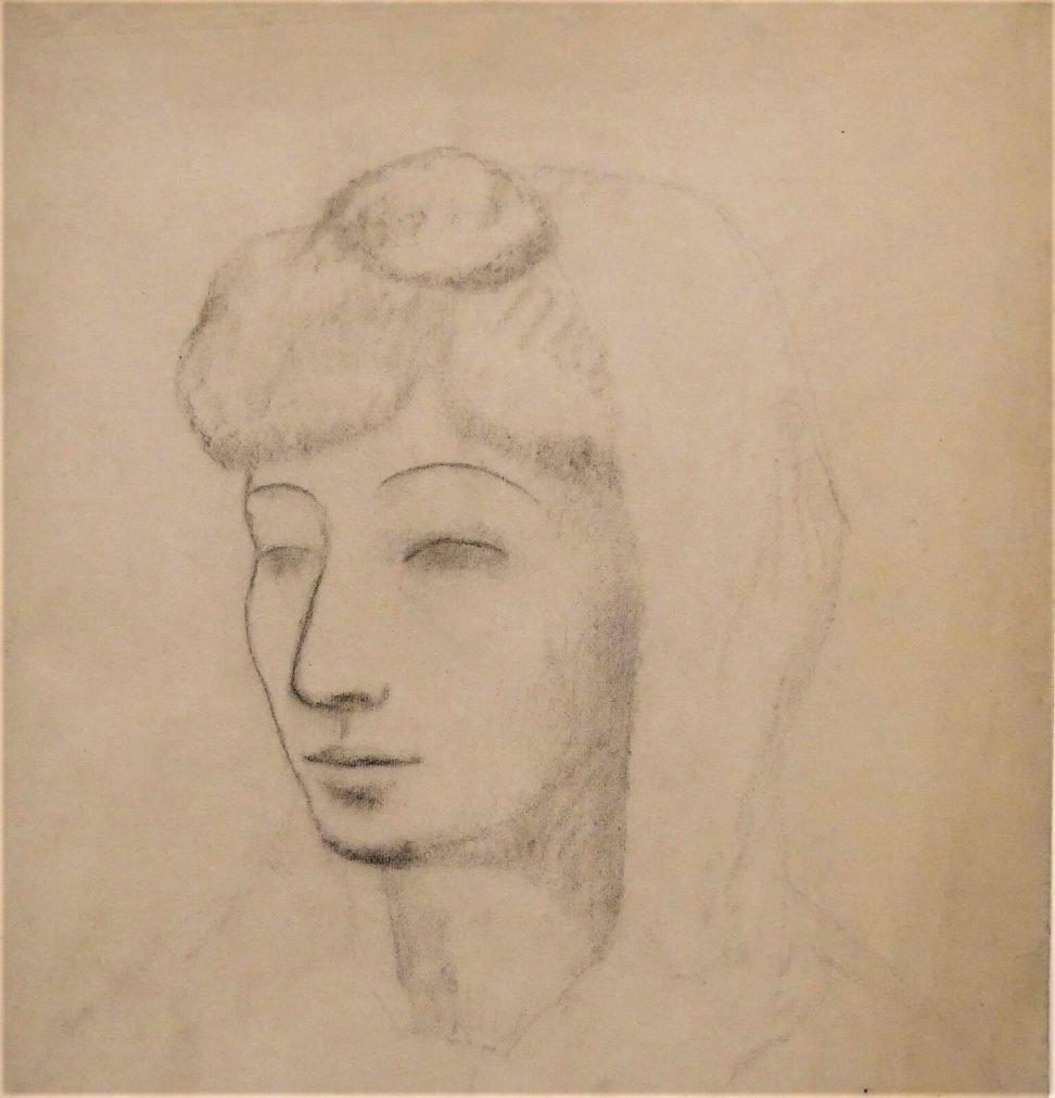 Época Rosa Picasso, Fernande con mantilla blanca,1906.