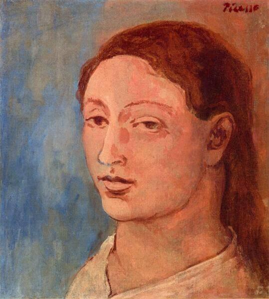 Época Rosa Periodo Rosa de Picasso, Cabeza de Fernande, 1906.