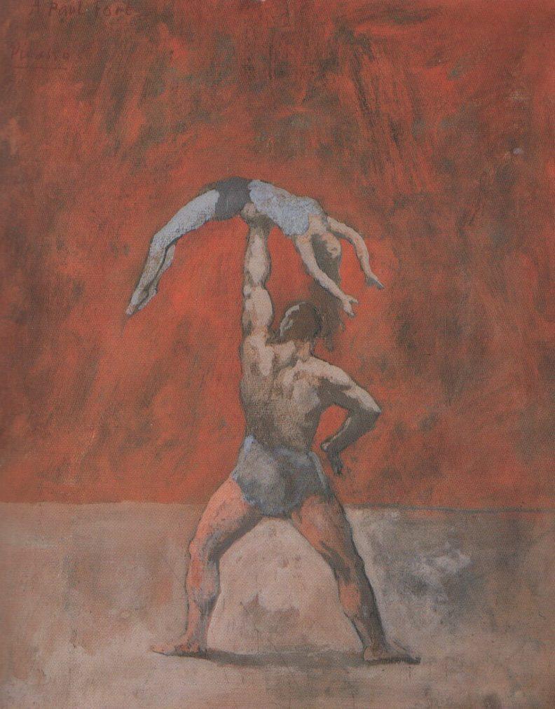 Época Rosa Picasso, Atleta, 1905.