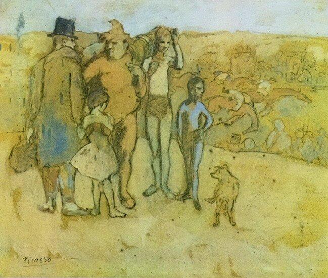 Periodo Rosa de Picasso, Familia errante, 1905
