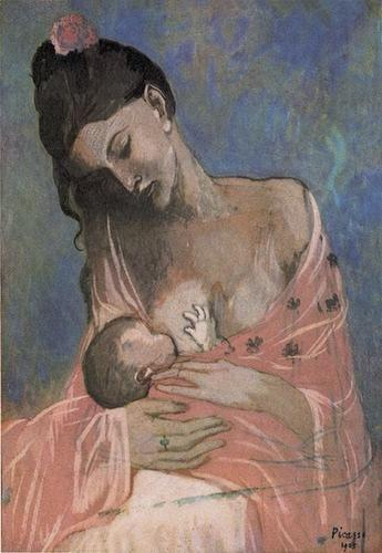 Periodo Rosa de Picasso, Maternidad, 1905.