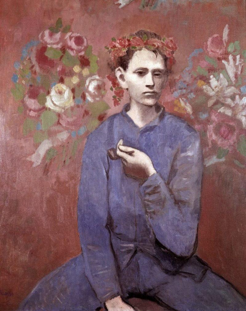 Época Rosa Picasso, Muchacho con pipa, 1905.
