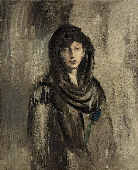 Época Rosa Picasso, La mujer de la mantilla (Fernande Olivier), 1905