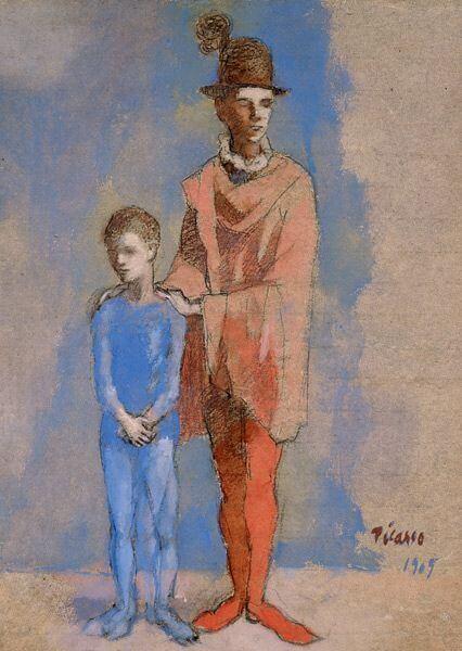 Picasso, Comediante con niño, 1905.