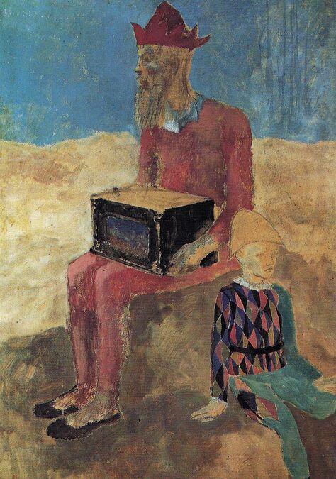 Época Rosa Picasso, Organista, 1905.