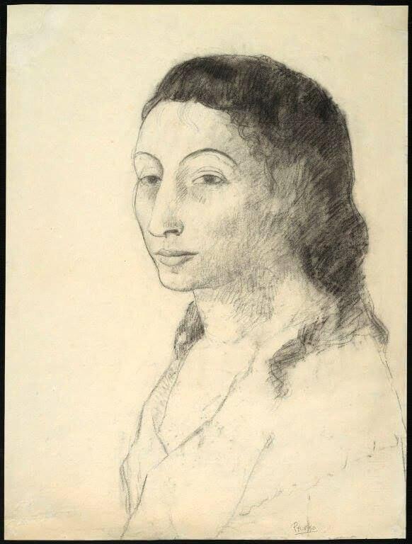 Época Rosa Picasso, Retrato de Fernande Olivier, 1906.