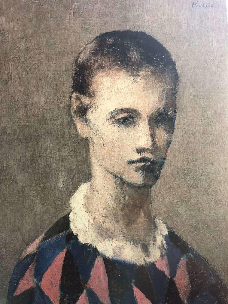Época Rosa Picasso, Cabeza de un arlequín, 1905.