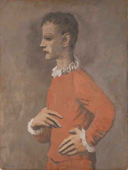 Época Rosa Picasso, Saltimbanqui, 1905.