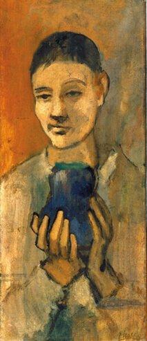 Época Rosa Picasso, Niño con un jarrón azul, 1905.