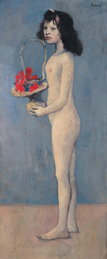 Picasso, Niña con canasta de flores, 1905.