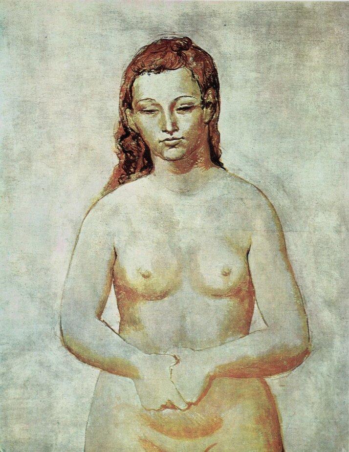 """Época Rosa Picasso: """"Desnudo de Fernande Olivier con las manos enlazadas"""". 1905, Toronto, colección Zacks."""