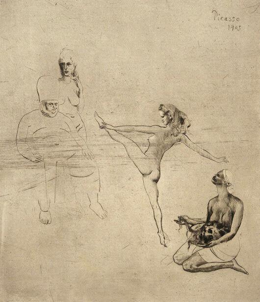 Periodo Rosa de Picasso, Salomé, 1905.