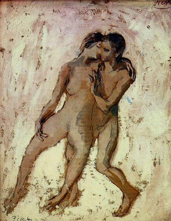 Época Rosa Picasso, Desnudos entrelazados, 1905.