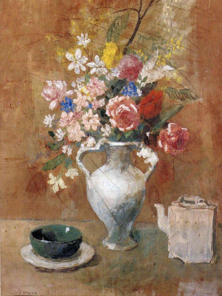 Época Rosa Picasso, Florero, 1905/1906.