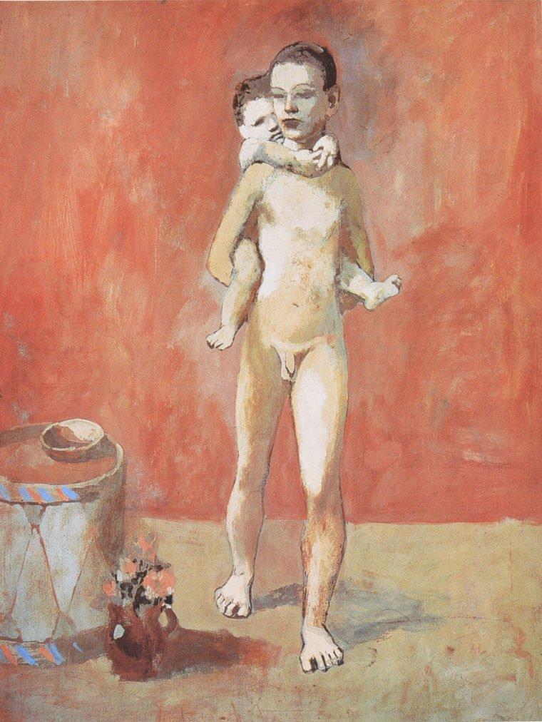 Época Rosa Picasso, Los dos hermanos, 1906, aguada sobre papel y cartón, 80,5 x 60 cm París, Musée National Picasso.