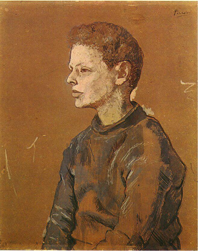 Época Rosa Picasso, Retrato de Allan Stein, 1906.