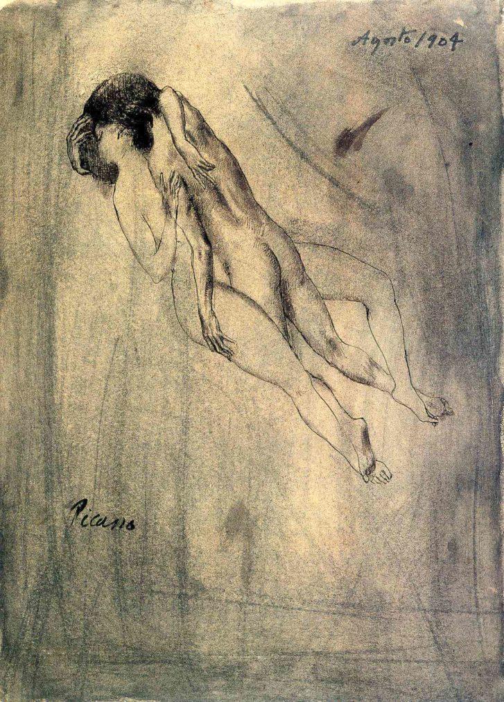 Periodo Rosa de Picasso, Amantes, 1904.
