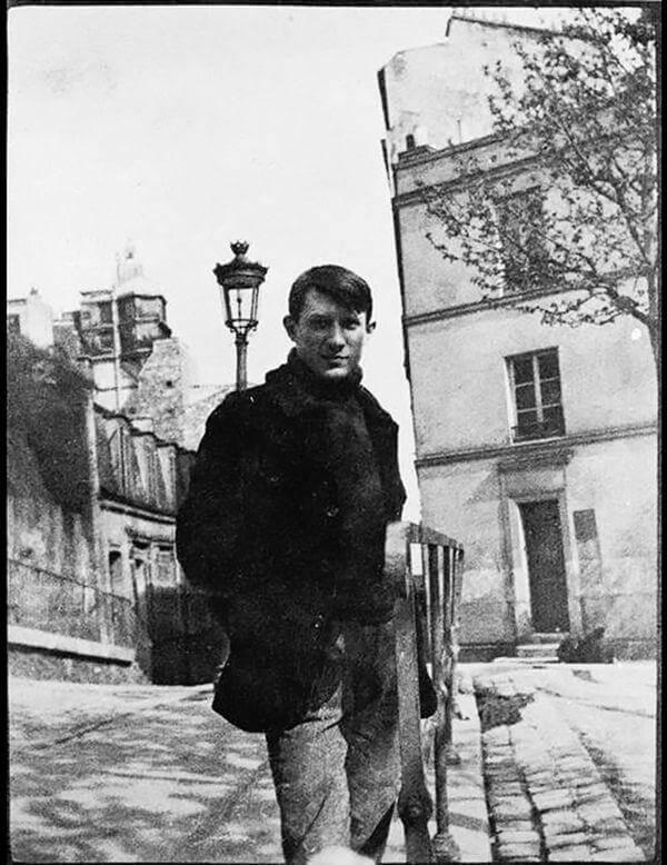 Picasso en la Place Ravignan, Montmartre, Paris, 1904, Musée national Picasso, París