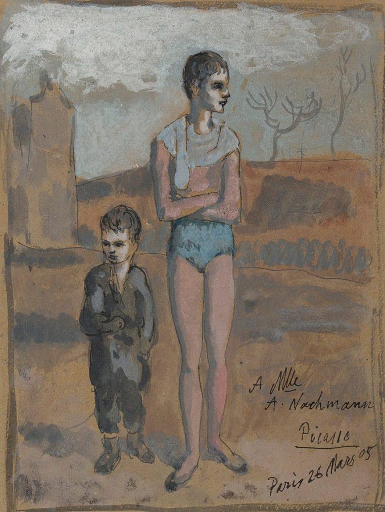 Época Rosa Picasso, Joven acróbata y niño, 26 marzo, 1905.