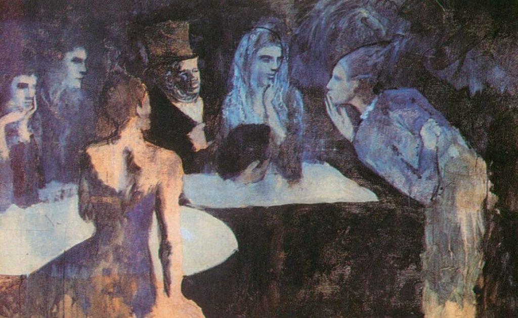 Época Rosa Picasso, Les noces de Pierrette,1905.