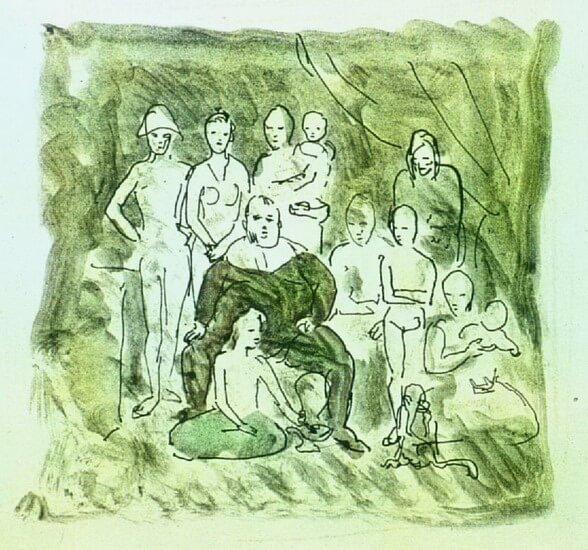 Picasso, Familia de acróbatas errantes, 1905.