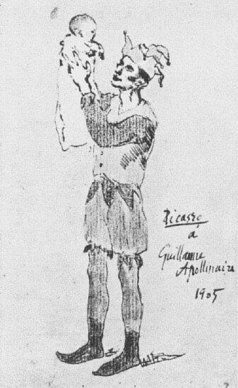 Periodo Rosa de Picasso, Arlequín con niño, 1905