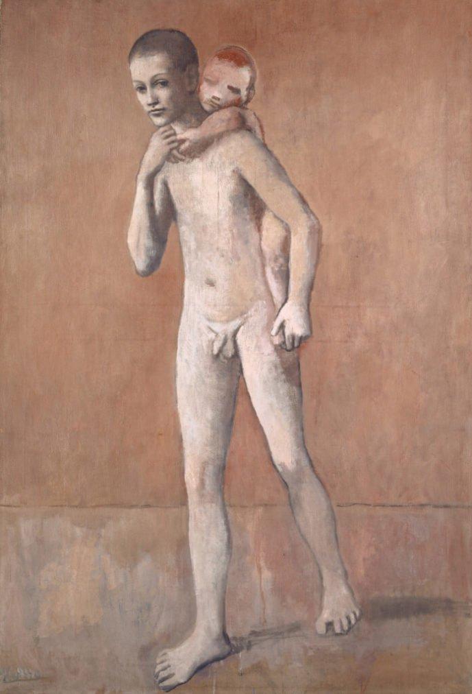 Periodo Rosa de Picasso, Los dos hermanos, 1906.