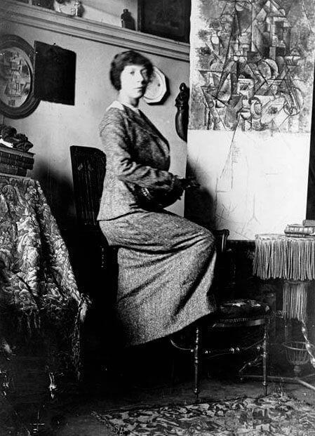 Época Rosa Piacsso La pintora Marie Laurencin en el taller de Picasso (11 Bld. de Clichy), 1911.