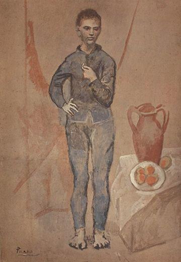 Periodo Rosa de Picasso, Muchacho con pipa, 1905.