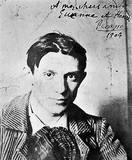 Retrato de Picasso en 1904.