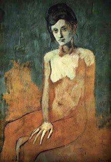 Época Rosa Picasso, Desnudo sentado, 1905.