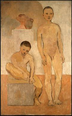 Periodo Rosa de Picasso, Dos jóvenes, 1905.