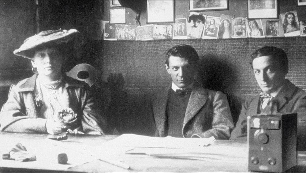 Periodo Rosa de Picasso (en el centro) con Fernande y Ramon Reventos, Barcelona 1906.