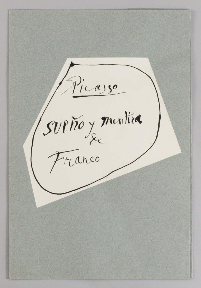 Cuadro Guernica de Picasso, Cubierta de la carpeta con los grabados Sueño y Mentira de Franco.